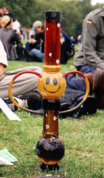 A bong - a water pipe with a shot hole